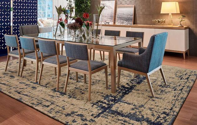 alfombra mesa comedor