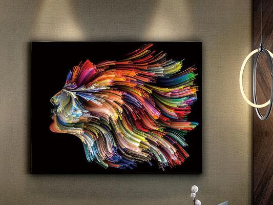 Fotografía impresa, montada en cristal templado. 130x100 cm