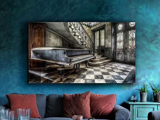 Fotografía impresa, montada en cristal templado. 140x80 cm