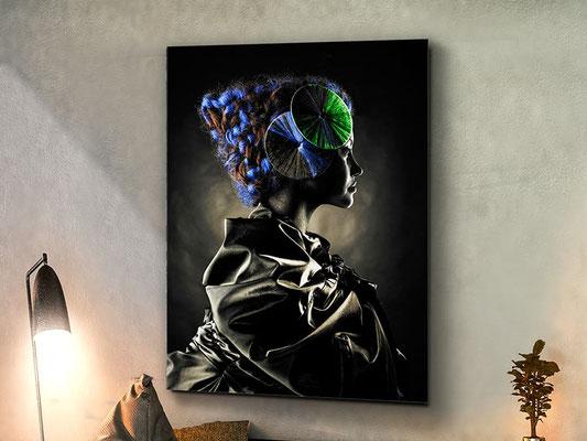 Fotografía impresa, montada en cristal templado. 100x135 cm