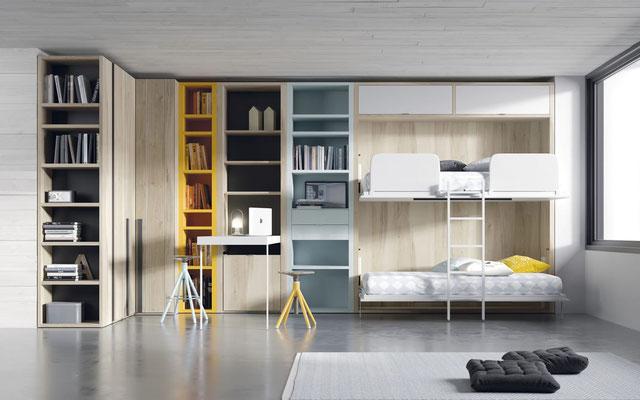 dormitorios juveniles abatibles 45
