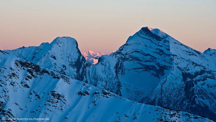 Karwendelgipfel bei Sonnenuntergang