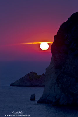 Sonnenuntergang bei Paleokastritsa
