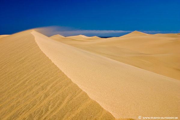 Sandsturm über den Dünen von Maspalomas, Gran Canaria