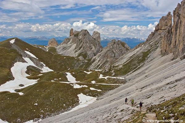 Auf dem Rückweg am Günter-Messner-Steig