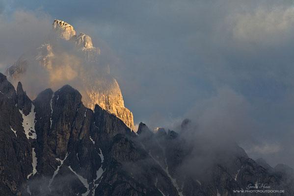 Bergleuchten in den Dolomiten.