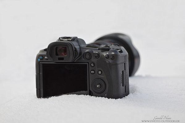 Rückseite der Canon EOS R5