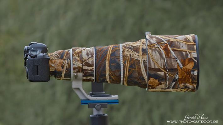 Mit Lenscoat ist das Canon EF 400mm f/2,8 L IS USM II deutlich unauffälliger in der Natur!