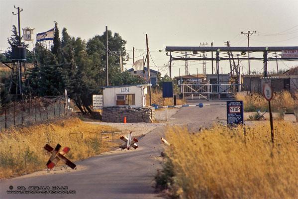 Grenzübergang zwischen Syrien und Israel