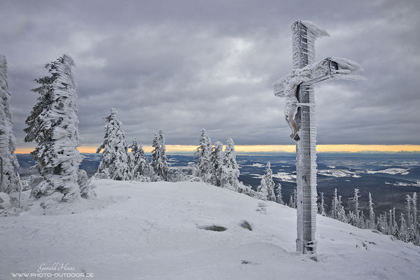 Winterstimmung am Gipfel des Lusen!