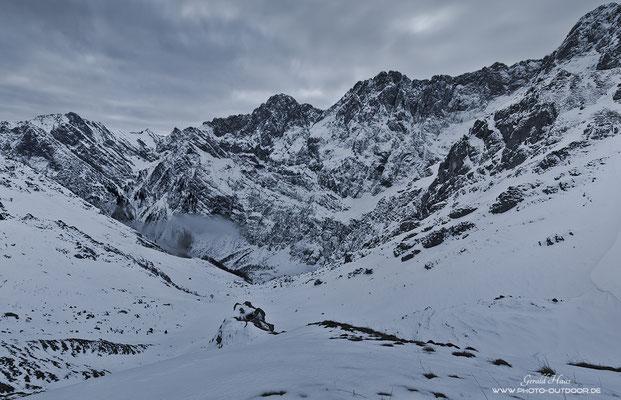 Alpine Winterlandschaft im Karwendel.