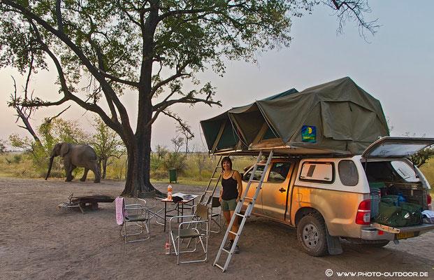 Xakanaka-Camp, Moremi-NP/Botswana
