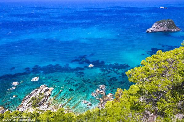 Die Westküste von Korfu mit ihren fantastichen Buchten