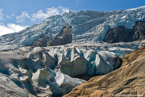 Gletscher am Ende des Buertals