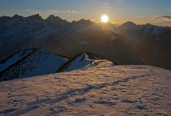 Soweit die Füße tragen: Die Aufstiegsspur zum Gipfel