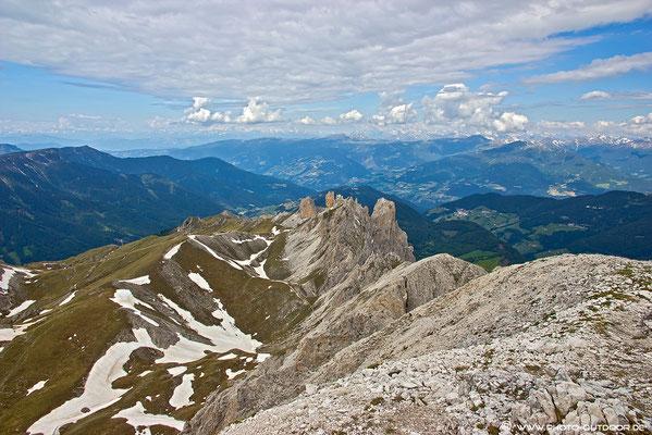 Gipfelblick vom Tullen Richtung Villnöss