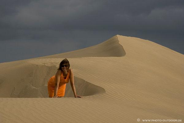 In den Sanddünen von Maspalomas