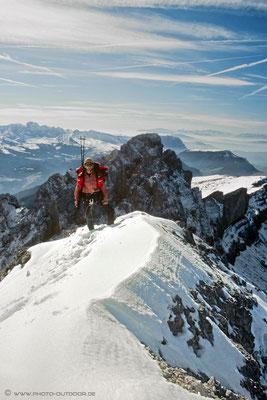 Am Gipfel des 1. Nordwandturms. Im Hintergrund die Fermedatürme