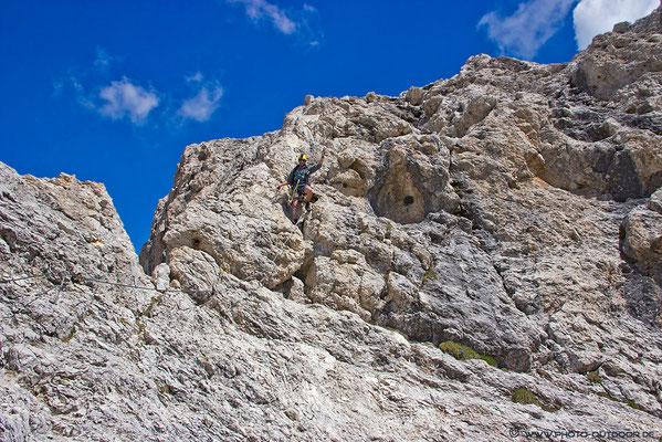 Der Klettersteig ist nicht schwierig, aber Trittsicherheit und Schwindelfreiheit sind unerlässlich.