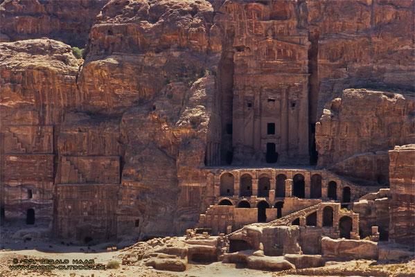 Monumentale Bauwerke in Petra