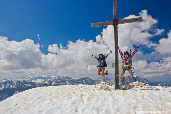 Geschafft!!! Am Gipfel des Großen Peitler!