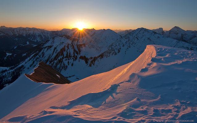 Sonnenaufgang am Schönalmjoch/Karwendel