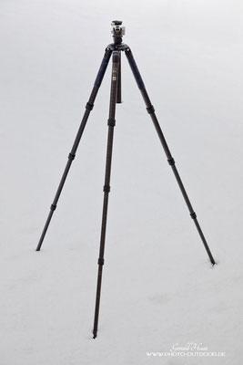 Voll ausgefahren erreicht das AOKA TKPRO eine Arbeitshöhe von 157 cm (ohne Kugelkopf).
