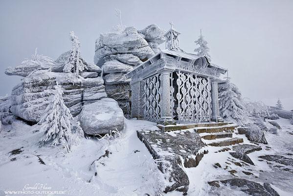 Zum richtigen Zeitpunkt am richtigen Ort: Ein herrliches Wintermotiv!