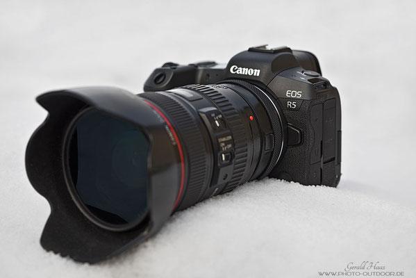 Frontansicht der Canon EOS R5