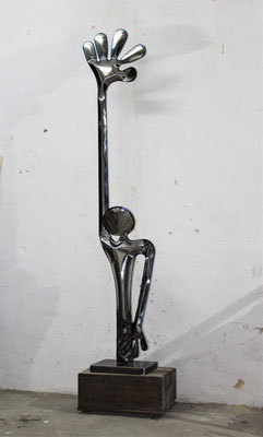 ALONE. 40X170X20 CM.  STAINLESS