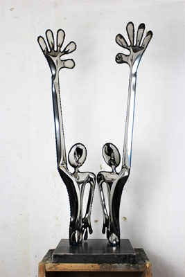 EMPATHY. 45X93X32 CM.  STAINLESS