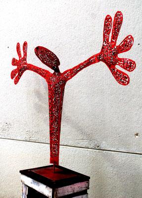 Santiflores,sculpture,steel,enamel.