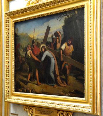 Jésus reçoit l'aide de Simon de Cyrène