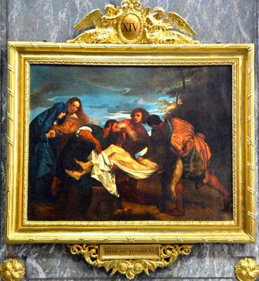 Jésus mis dans le tombeau