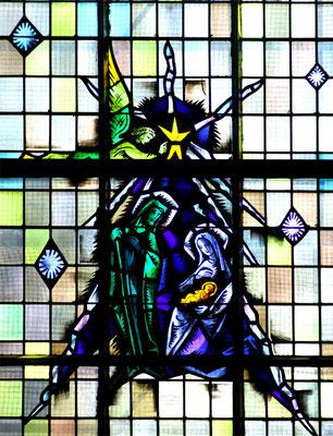 Amiens-église du Coeur Immaculé de Marie- Vitrail  G Ansart