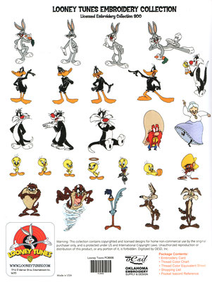 Looney Tunes Embroidery Designs