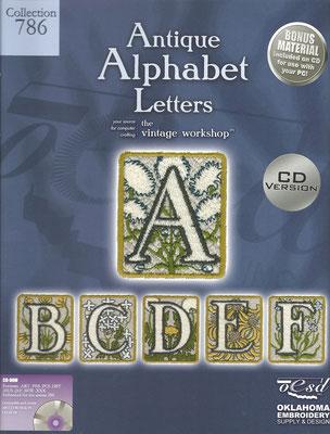 Alphabet Antique Letters Coll. #786
