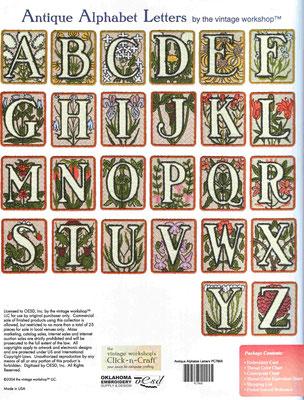 Alphabet Antique Letters