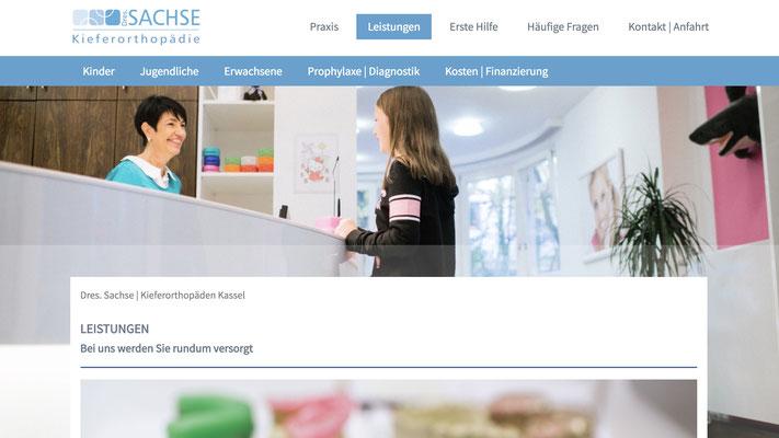 Website Dres. Sachse Ansicht PC