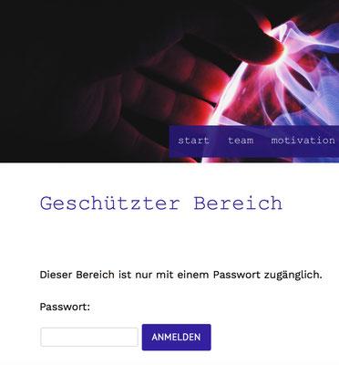 Website mit Passwortschutz