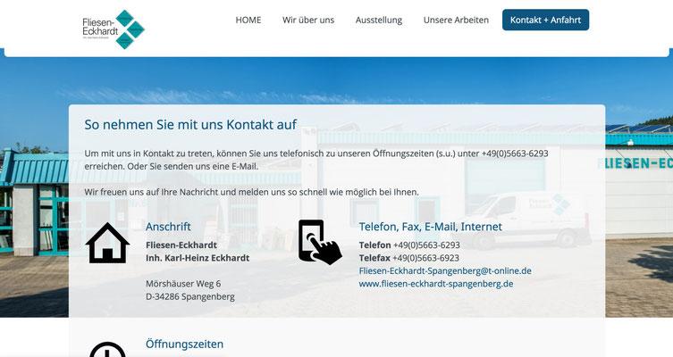 Referenz Fliesen-Eckhardt Spangenberg Ansicht PC