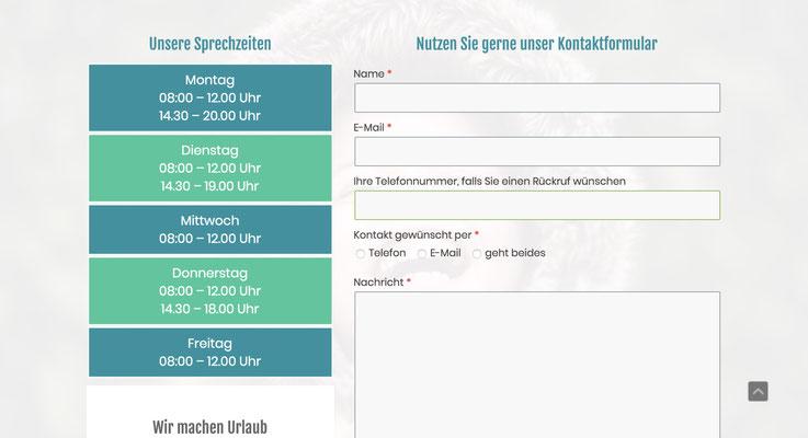 Website Lutz Kienzler Ansicht PC
