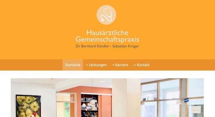 Website Kändler & Krüger Ansicht PC