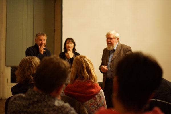 Eine der Hauptprotagonisten, MICHAEL SUCCOW war ebenfalls für Fragen des Publikums vor Ort