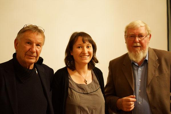 Volker Koepp, Vereinsvorsitzende Kristin Schalkowski und Michael Succow (v.l.n.r.)