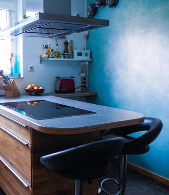 Fertige eingebaute Küche