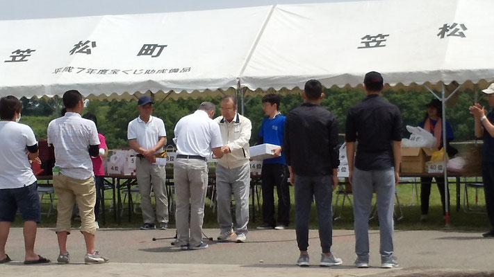 表彰式 松本チーム代表