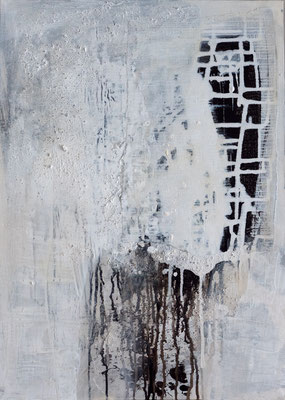 o.T., 50x70, Acrylmischtechnik auf Leinwand