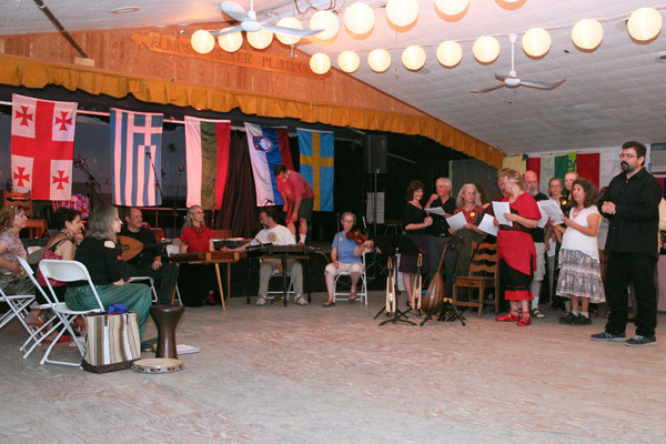 Spyros taught a Greek music ensemble class and Greek singing at the camp.