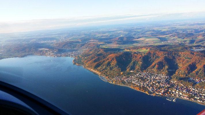 Rundflug über Bodensee